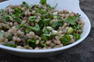 Puy lentil and giant couscous salad