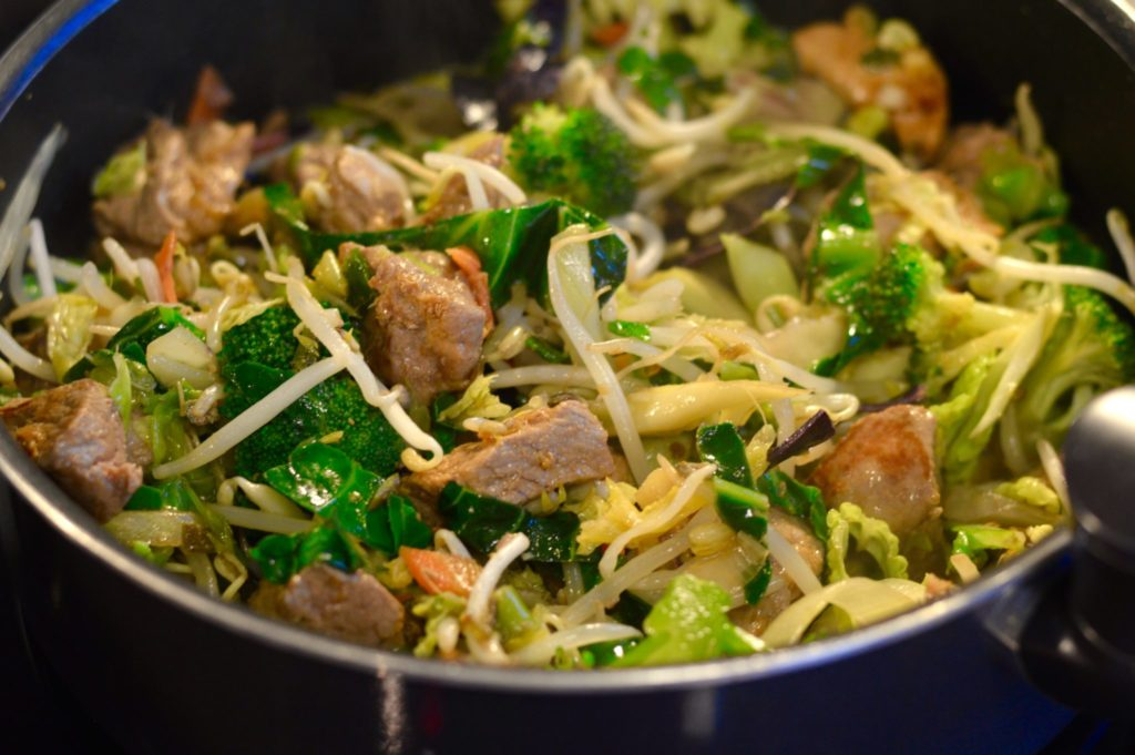 The Stir Fry on the cooker