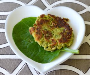 Plantain Recipes: Raw Plantain, spinach & coconut fritters
