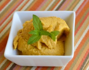 Roasted butternut squash hummus with sour orange