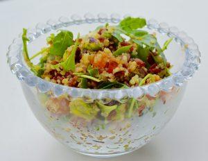 Quinoa salad recipe with red rice