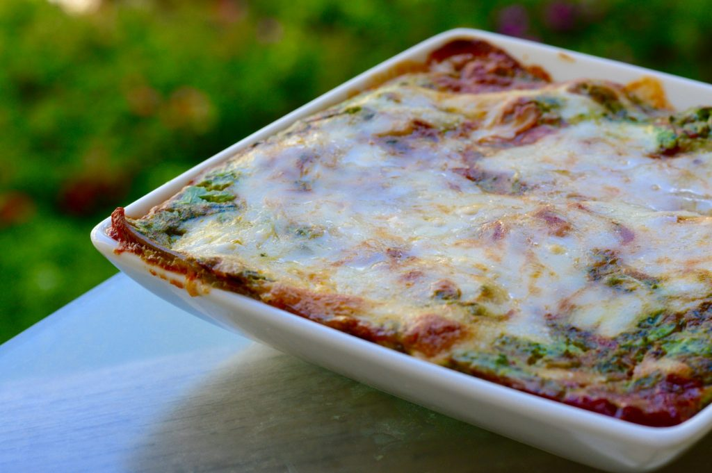 Spinach and Ricotta Lasagne Dish