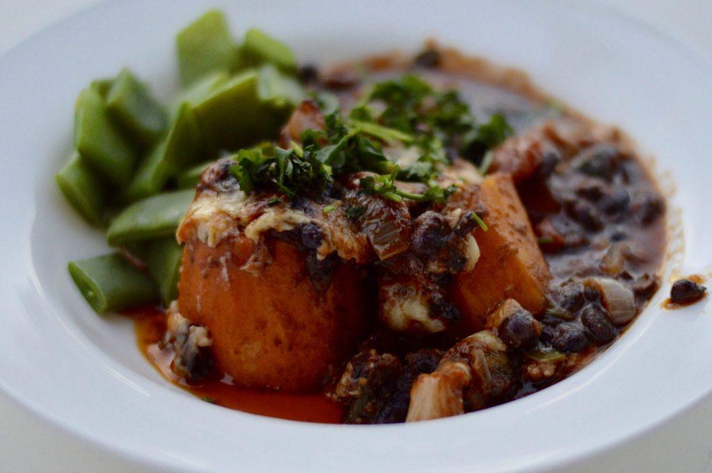 The Finished Black Bean and Sweet Potatoe Dish