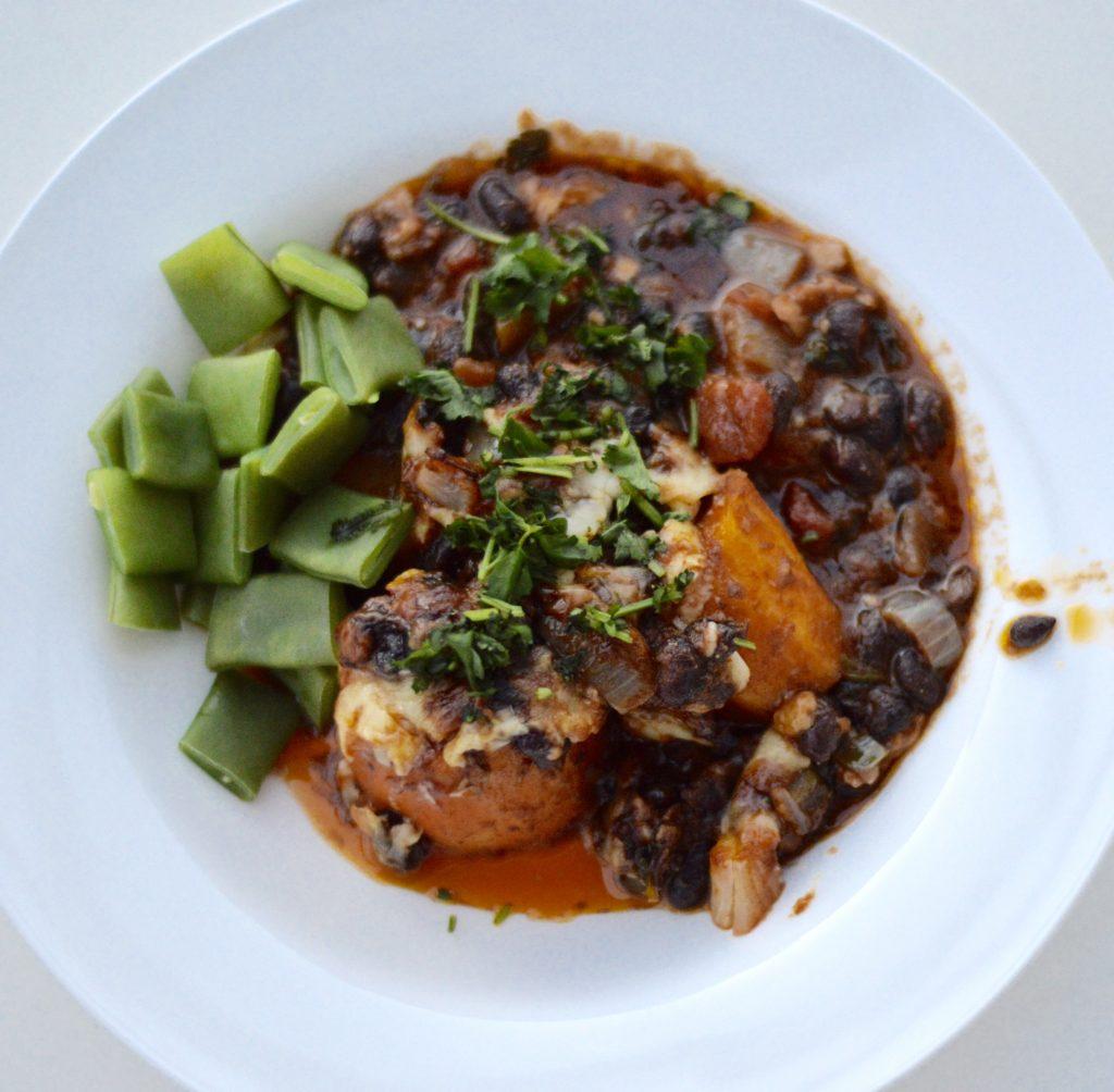Black Bean and Sweet Potato Dish