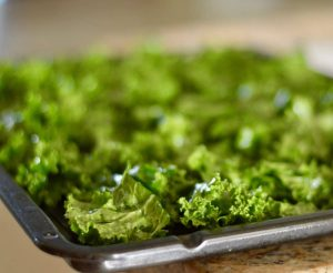Crispy curly kale and the New Year ahead..