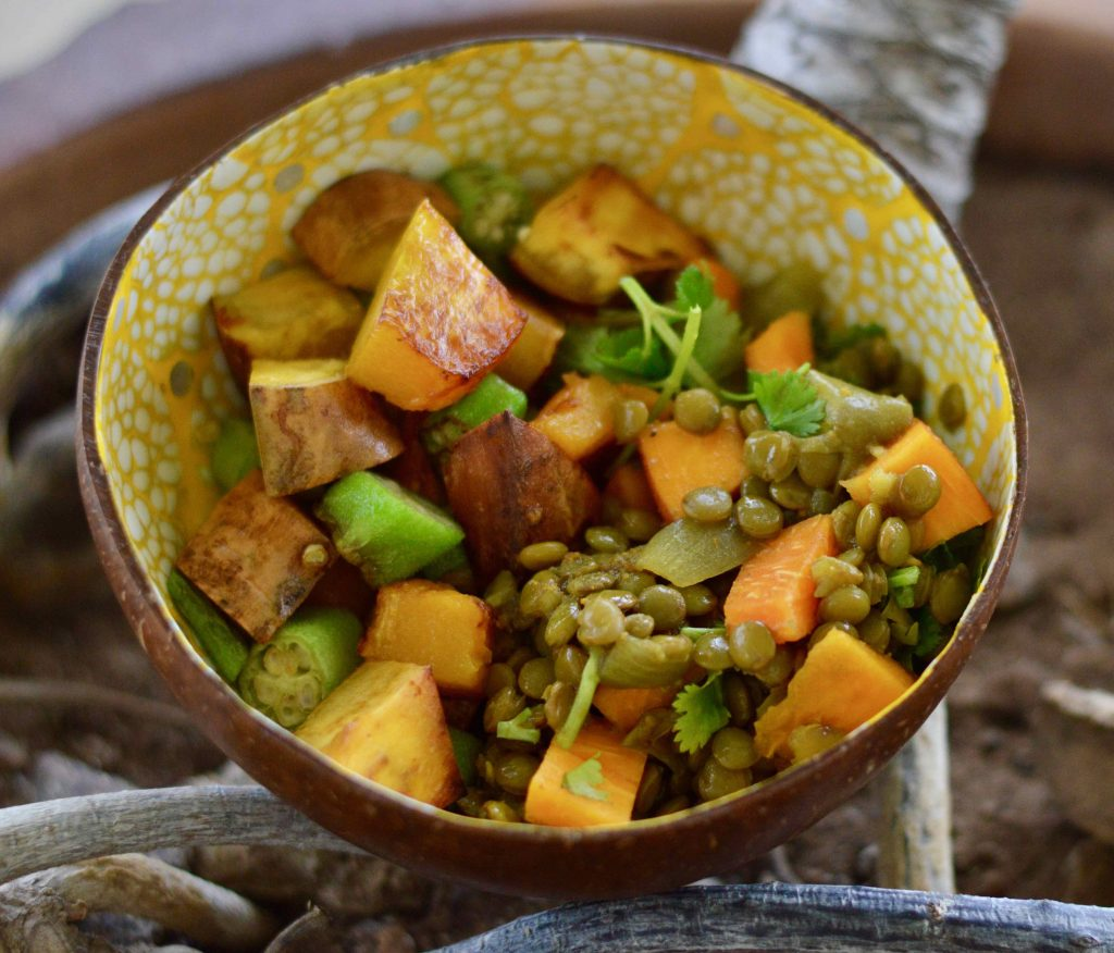Curried Lentils and Zabricot Dish