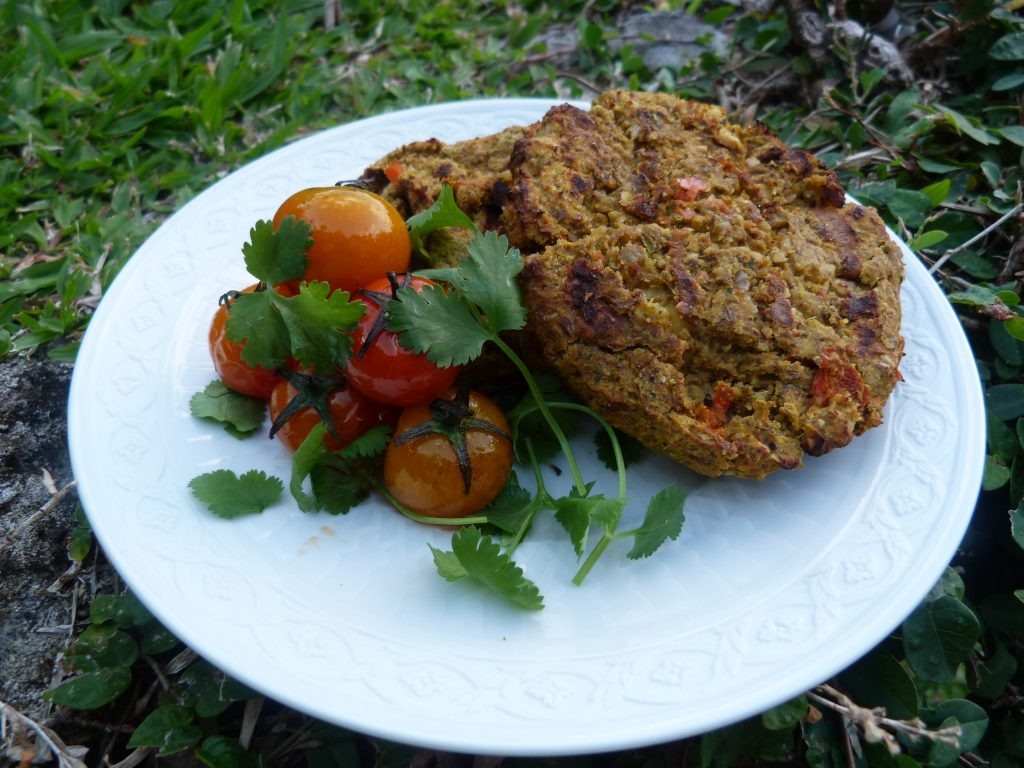 Borlotti beans and pumpkin burgers