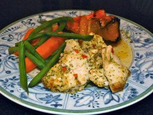 Chicken with tamarind vinaigrette