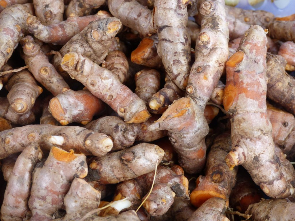 Fresh, locally grown turmeric