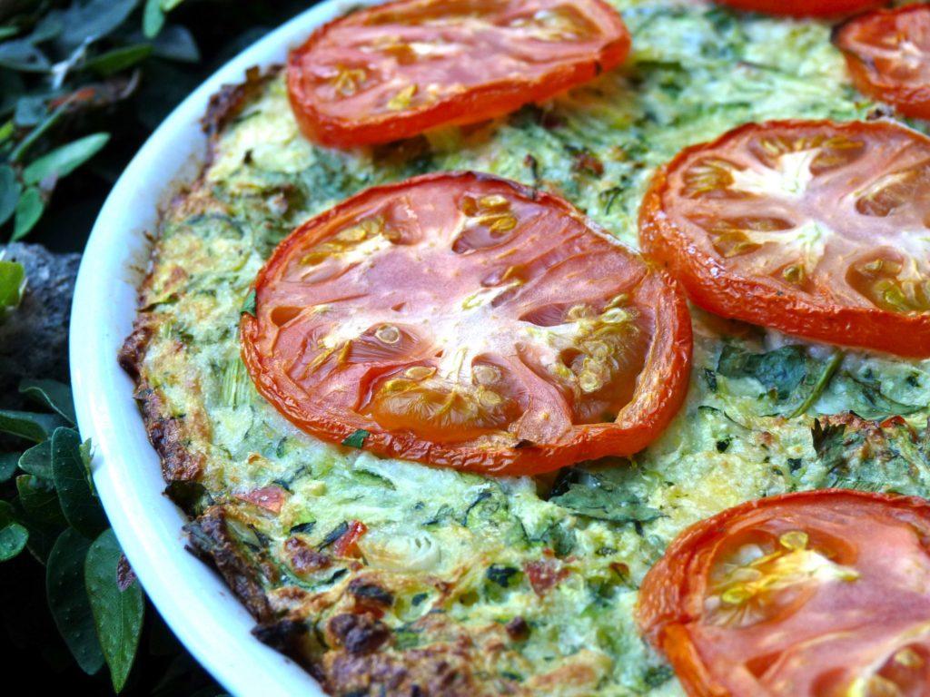 Courgette (zucchini) pizza