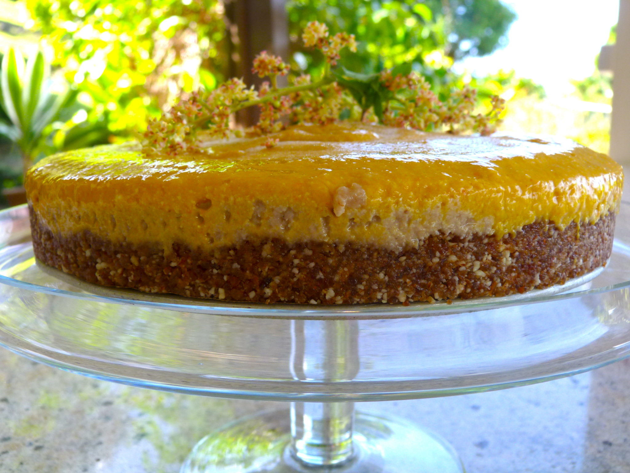 "Raw mango ""cheesecake"""