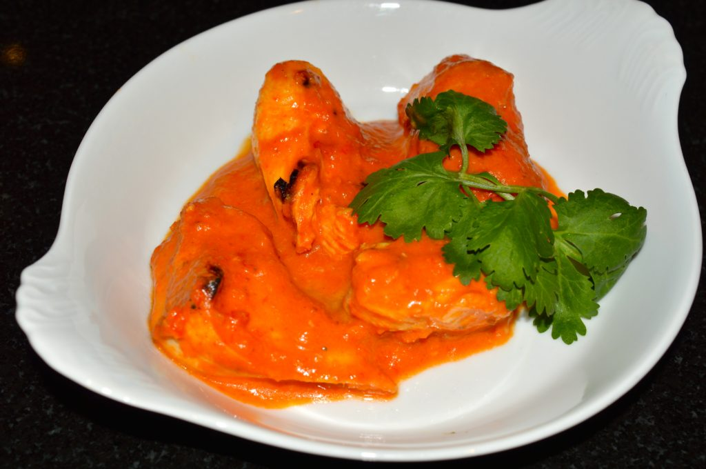 Chicken cooked in harissa sauce