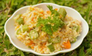Easy mid week okra rice