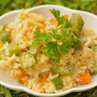 Easy mid week okra rice Sun Temple Food