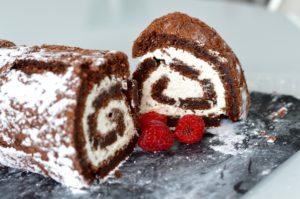 Gluten free chocolate roulade