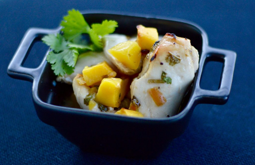 Healthy mango chicken with tamarind