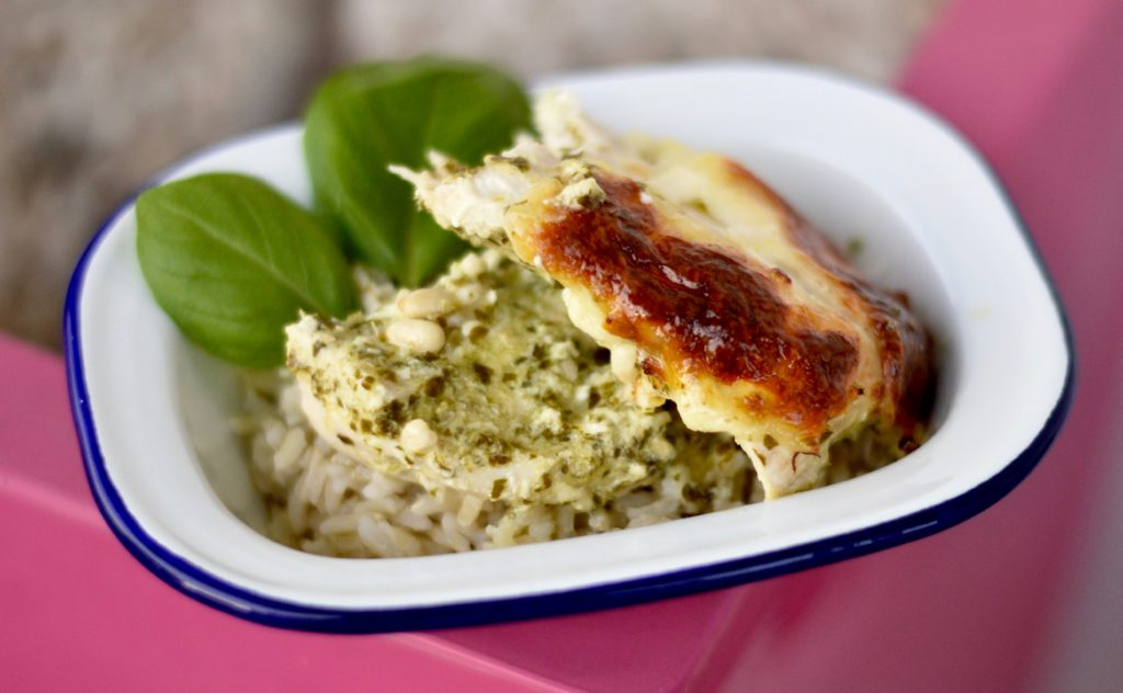 Pesto Chicken | Easy mid-week creamy pesto chicken recipe