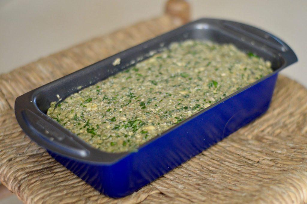 Preparing Vegan Mushroom & Tofu Loaf