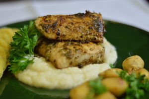 Blackened Mahi Mahi fish fillets