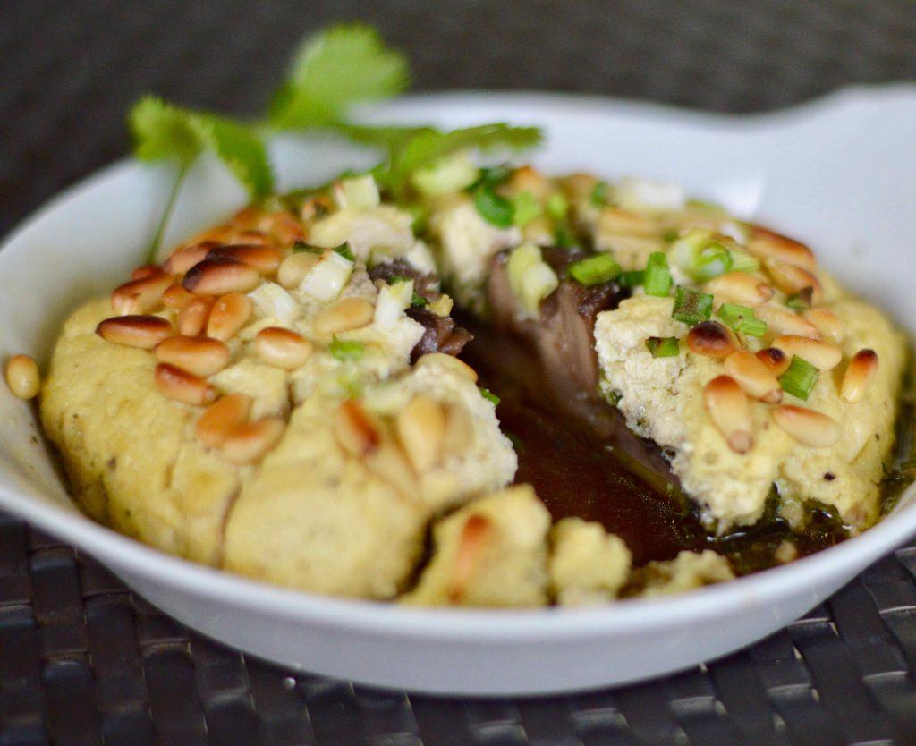 Easy mid-week vegan tofu mushroom dish