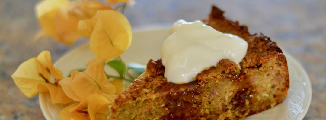 Almond Cake Delight with pistachio, coconut & carrot
