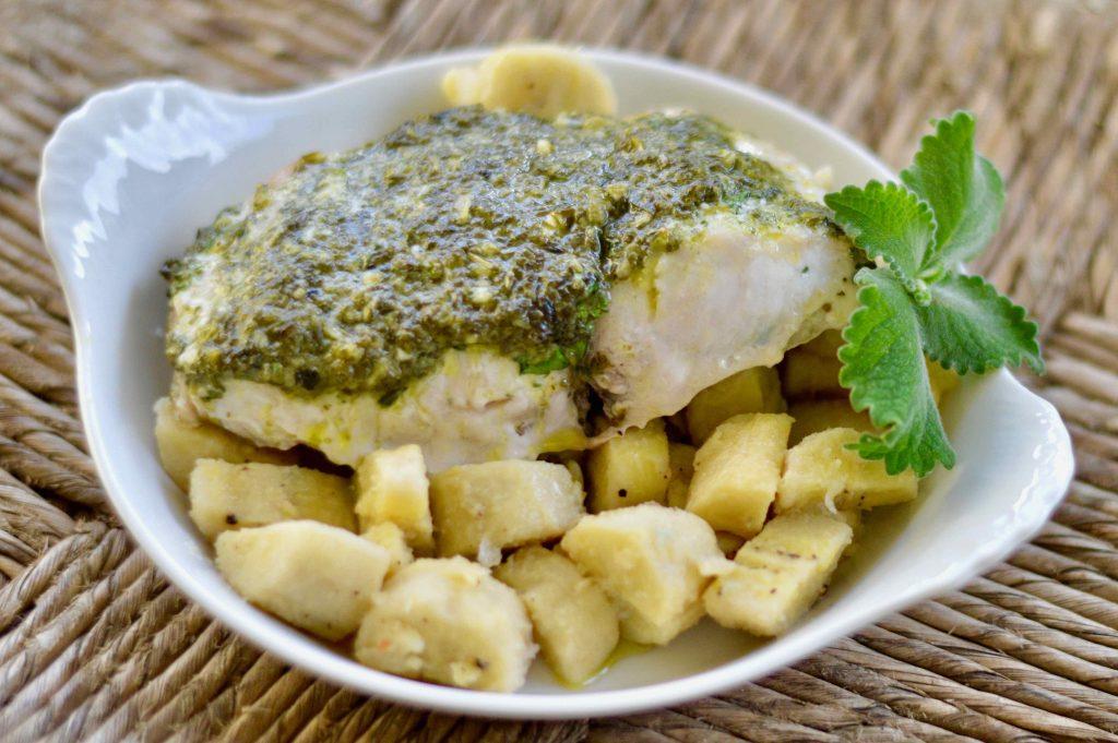 Fish Recipes: Dorado fish with herb topping
