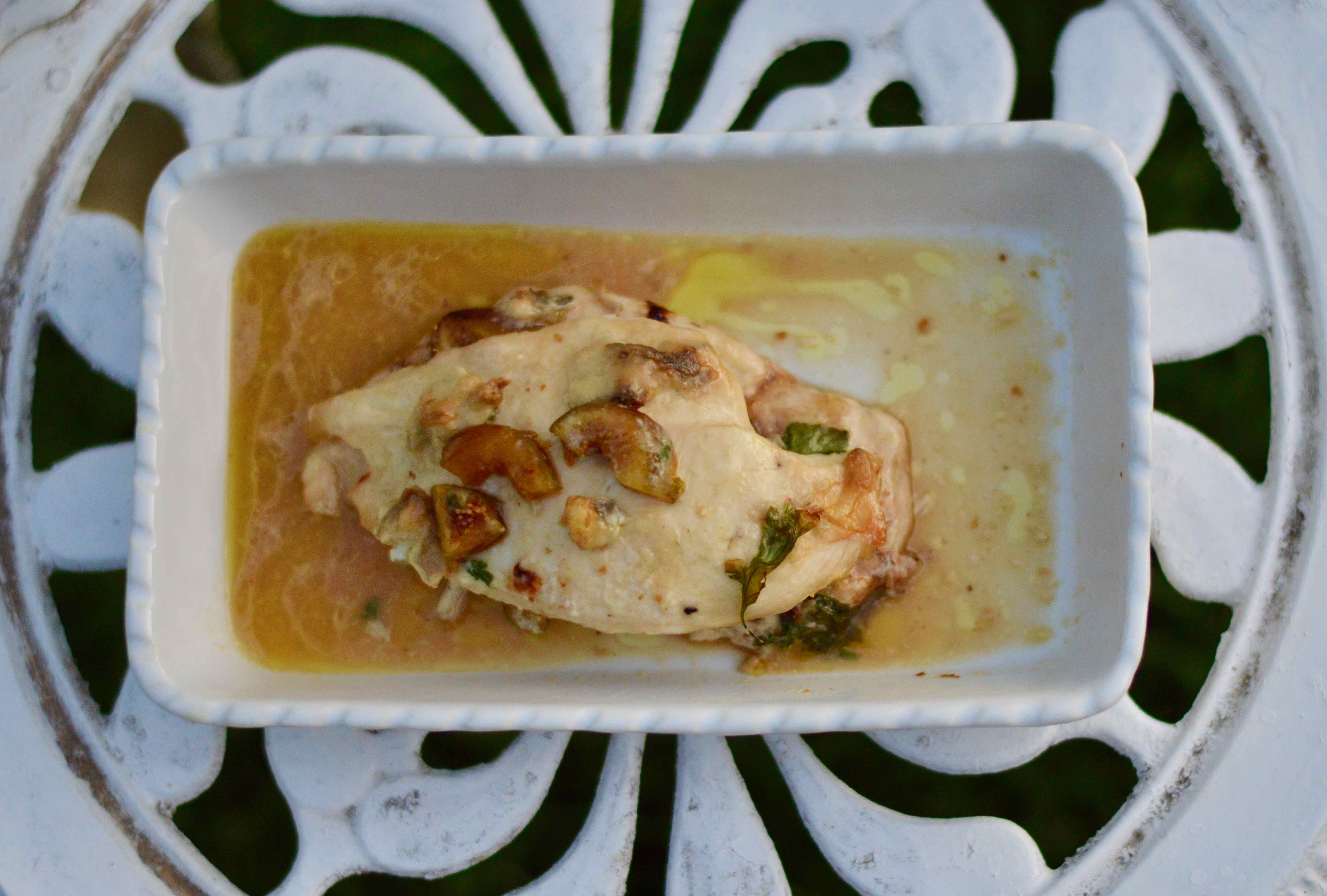 Finished Chicken and Fig meal